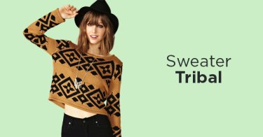 Sweater Tribal Wanita