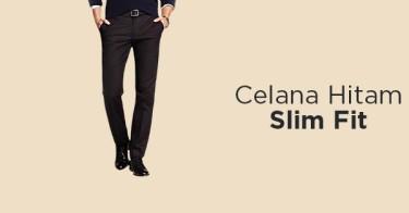 Celana Hitam Slim Fit