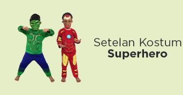 Setelan Kostum Superhero