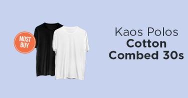 Kaos Polos Cotton Combed 30s