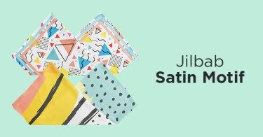 Jilbab Satin Motif Kabupaten Bekasi