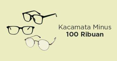 Paket Kacamata Minus & Lensa Pria Bekasi