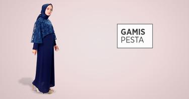 Jual Gamis Pesta Model Gaun Pesta Muslim Terbaru Elegan 2018