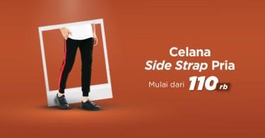 Celana Side Striped Pria