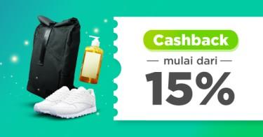 Cashback Mulai dari 15%