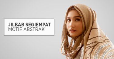 Jilbab Segi Empat Motif Abstrak