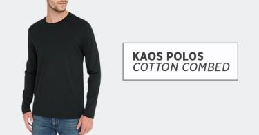 Kaos Polos Cotton Combed 30s Lampung