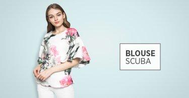 Blouse Scuba Bandung