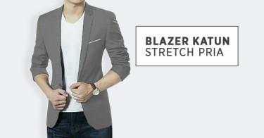 Blazer Katun Stretch Pria