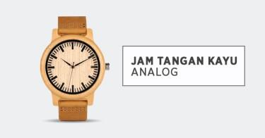 Jam Tangan Kayu Analog Depok
