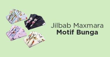 Jilbab Maxmara Motif Bunga