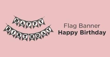 Flag Banner Happy Birthday Kabupaten Bekasi