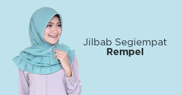 Jilbab Segiempat Rempel Tasikmalaya