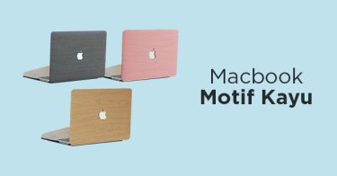 Case Macbook Motif Kayu