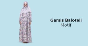 Gamis Baloteli Motif Bandung