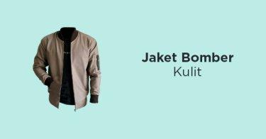 Jaket Bomber Semi Kulit