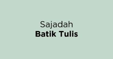 Sajadah Batik Tulis