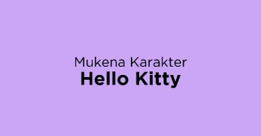 Mukena Karakter Hello Kitty