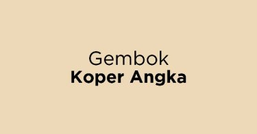 Gembok Koper Angka