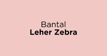 Bantal Leher Zebra