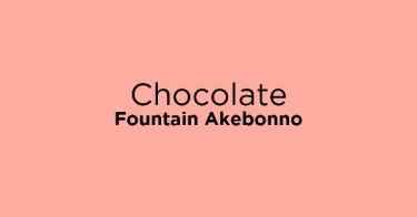 Chocolate Fountain Akebonno