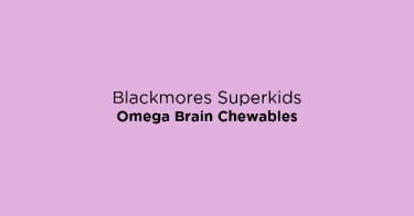 Blackmores Superkids Omega Brain Chewables
