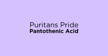 Puritans Pride Pantothenic Acid