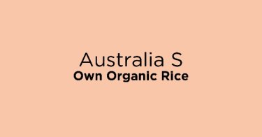 Australia S Own Organic Rice