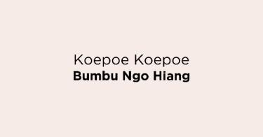 Koepoe Koepoe Bumbu Ngo Hiang