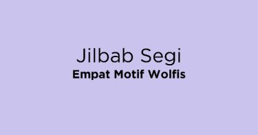 Jilbab Segi Empat Motif Wolfis