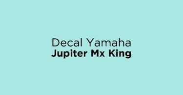 Decal Yamaha Jupiter Mx King