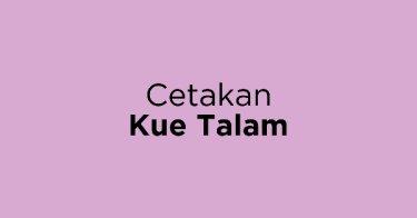 Cetakan Kue Talam
