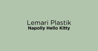 Lemari Plastik Napolly Hello Kitty