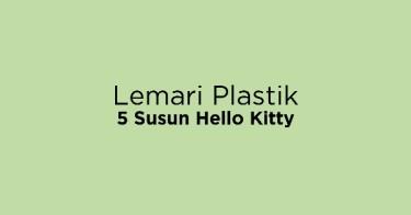 Lemari Plastik 5 Susun Hello Kitty