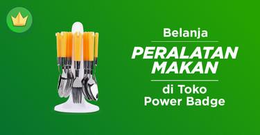 Peralatan Makan Power Badge