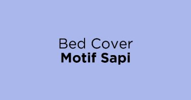 Bed Cover Motif Sapi