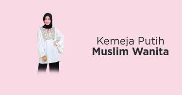 Kemeja Putih Muslim Wanita Bandung