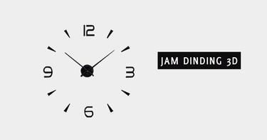 Jam Dinding 3D Palembang