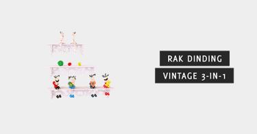 Rak Dinding Vintage 3-in-1 Depok