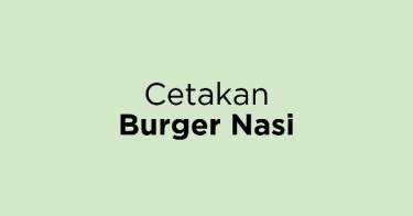 Cetakan Burger Nasi