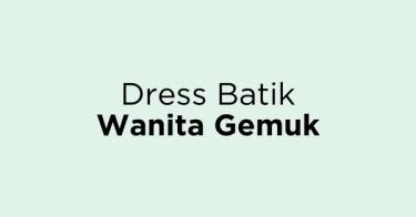 Dress Batik Wanita Gemuk