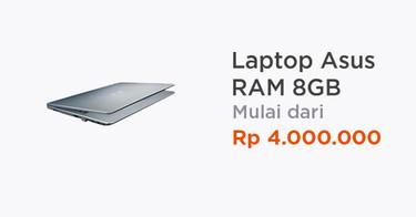 Laptop Asus RAM 8GB