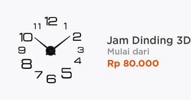 Jam Dinding 3D
