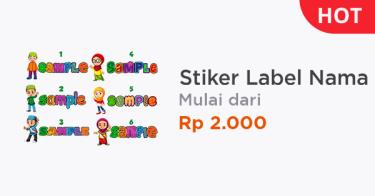 Stiker Label Nama