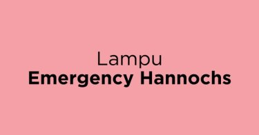 Lampu Emergency Hannochs Jakarta Barat