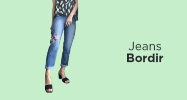 Jeans Bordir