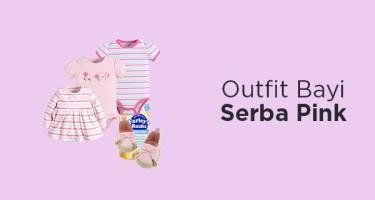 Outfit Bayi Serba Pink