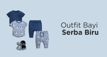 Outfit Bayi Serba Biru