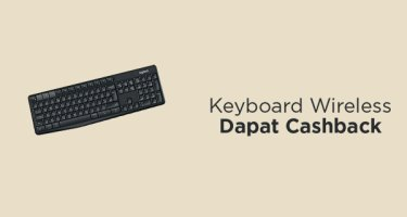 Keyboard Wireless Dapat Cashback