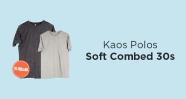 Kaos Polos Soft Combed 30s